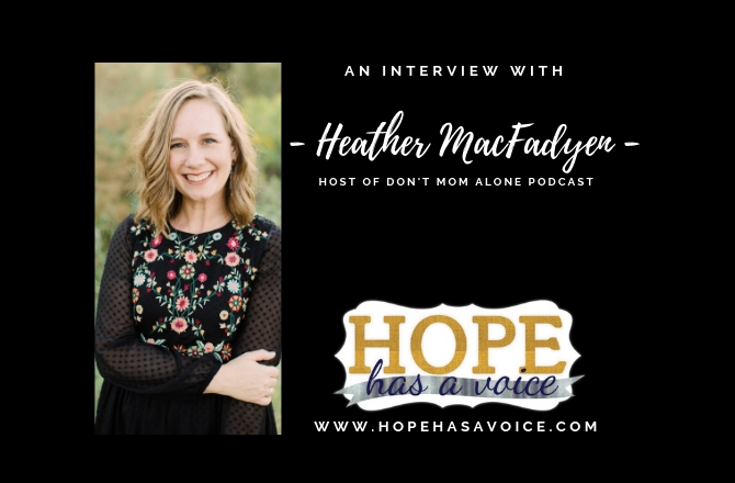 "Heather MacFadyen From The Don't Mom Alone Podcast – Moving Toward ""Withness""  EP3"