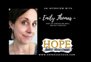 """Emily Thomas – Host of The Struggling Well Project Podcast – """"If it's not good, it's not done.""""  EP 7"""